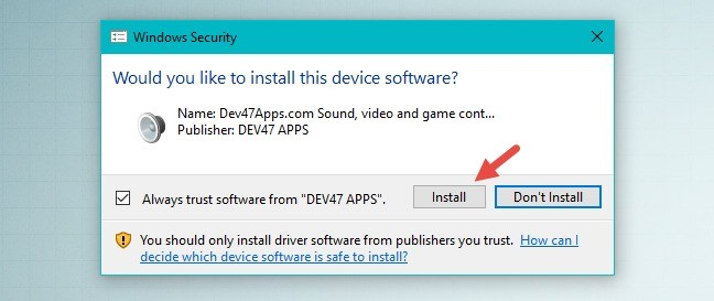 установка DroidCam Windows Client